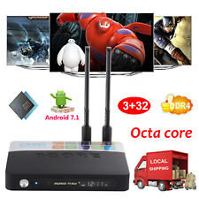 Newest 2017 Android 7.1 Nougat 3+32Gb Ddr4 S912 Octa Core Smart Tv Box 4K Movies