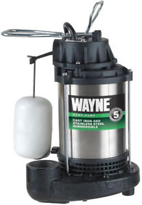 Wayne Submersible Sump Pump 3/4 hp 120-V Vertical Cast Iron Base Stainless Steel