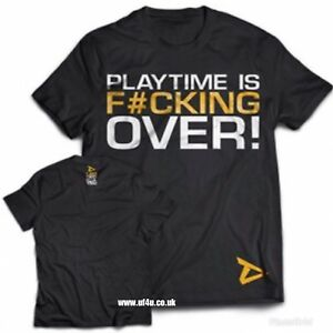 """Dedicated Nutrition T-Shirt """"Playtime is #ucking over""""bodybuilding t-shirt LARGE"""