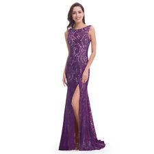Elegant Formal Long Split Lace Evening Party Dresses Cocktail Prom Gown 08859
