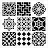 "One 6"" x 6"" Crafter's Workshop Painting Stencil Template ~ Moroccan Tiles"