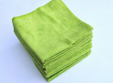 "12 High Quality Microfiber Towels/Cloth 16""x16"" Auto Polish Detailing,Lime Green"