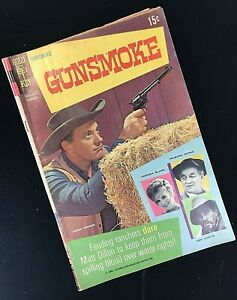 GUNSMOKE # 1 ~ February 1968 Comic Book Magazine Matt Dillon Festus Miss Kitty