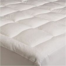 Queen Size Mattress Pad 100% Polyster Soft Plush Top Bed Topper Cover Protector