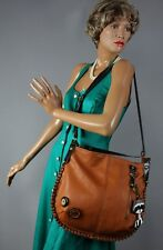 New CHALA Convertible Hobo Large Tote Bag Racoon Vegan Leather