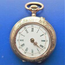 """DAMEN TASCHENUHR, Gold, 8K, """"10 Rubis"""", kleine Dellen, gute Funktion, ca. 1890"""