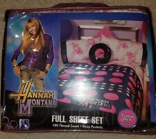 NEW Disney Hannah Montana Pop Star Full Sheet Set Deep Pockets
