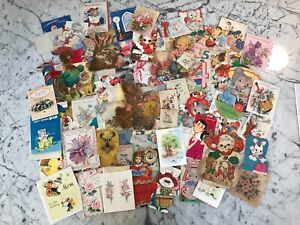 LOT (5of5) 100 vintage greeting cards 40s-70s - $50