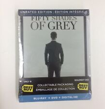 Fifty Shades of Grey Blu-ray Disc [Unrated Edition Limited STEELBOOK ] Brand New
