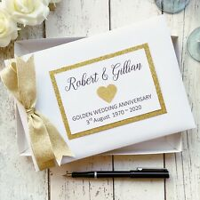 PERSONALISED WEDDING ANNIVERSARY GUEST BOOK HEART ~  PARTY / GIFT / ENGAGEMENT