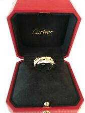 Cartier Classic Trinity Ring Diamond 18k Tri Gold Sz 51 US 5 3/4 Estate Jewelry