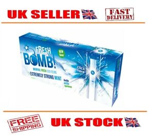 100,200,500,1000,1500,2000 FRESH BOMB ARCTIC STRONG MINT CLICK CIGARETTE TUBES
