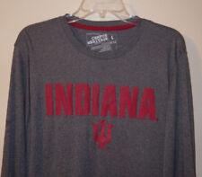 Campus Heritage Men's Indiana Univ Longsleeve Shirt Size Large - Gray - NWOT