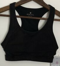 ATHLETA Double Dare Sports Bra Size XXS Black Cut Out Padded NWT