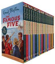 Famous Five Series 21 Books Box Set Pack Collection Enid Blyton
