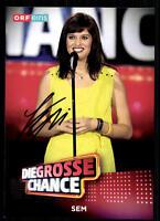 Sem Die Grosse Chance Autogrammkarte Original Signiert ## BC 10916