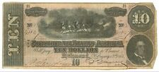 February 17, 1864 $10 Confederate States of America T-68 Seventh Issue 41847