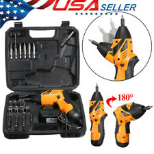 45Pcs Wireless Cordless Electric Screwdriver Drill Kit Power Tools Rechargeable