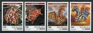 Niger Wild Animals Stamps 2015 MNH Bats Fruit Bat Flying Mammals Fauna 4v Set