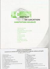 LIASSE AUTOCOPIANTE CONTRAT DE LOCATION HABITATION MEUBLEE editions TISSOT