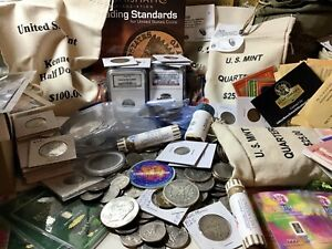 Silver Box US COIN COLLECTION LOT GRAB BAG