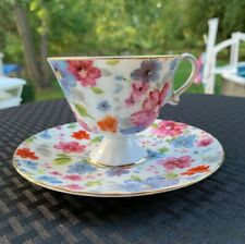 Grace's Teaware Floral Pattern Teacup And Saucer MINT CONDITION! FREE SHIPPING!!