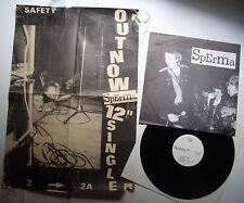 """SPERMA 'schmier = police' 12"""" & PROMO-POSTER (1979) Swiss Punk TNT/Nasal Boys"""