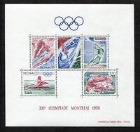 Monaco Block 9 postfrisch 1225 - 1229 Motiv Olympia 1976 Montreal MNH