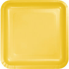 "18 School Bus Yellow Birthday Party Tableware 9"" Square Paper Lunch Plates"