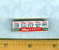 Dollhouse Miniatures  Size Variety 10 pack of Individual Cereal Box