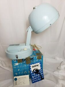 Brother Profile 3500 Portable Professional Hair Dryer Blue box & manual vintage