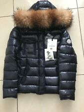 Moncler Navy Duck Down Real Fur Detachable Hood jacket (Armoise)
