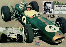 JACK BRABHAM HAND SIGNED 8x11 COLOR PHOTO+COA         FORMULA 1 RACING LEGEND
