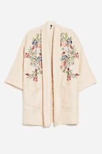 Ex Topshop Ivory Embroidered Kimono Top Size 4- 16 RRP £69
