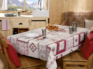 Wachstuch Tischdecke Mitteldecke Landhaus Karo Rot/Beige versch. Größen