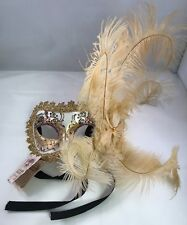NWT Authentic La Maschera del Galeone Hand Made in  Venice Italy Feather Mask