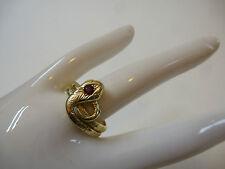 Jugendstil Schlangenring Damenring Gold 585 punziert Rubin Ring um  1910