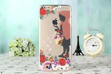 Princess Clear Transparent TPU Soft Back Case Cover for iPhone X 5s 6 7 8 Plus Little Mermaid for Samsung S7