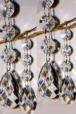 30pcs/lot Acrylic Crystal Beads Garland Chandelier Hanging Wedding Party Decor