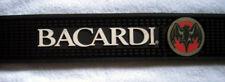 """Bacardi Rum Rubber Bar Spill Mat 23.25"""" x 3.5"""" Black Bat logo"""