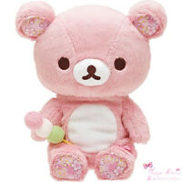 8'' Pink Rilakkuma Soft Plush Toy SAN-X Relax Brown Bear Kids Birthday Doll Gift