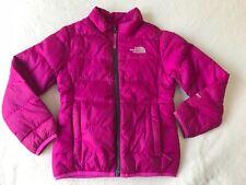Girls Kids Bright Pink Purple The North Face 550 Puffer Down Jacket Coat XXS / 5