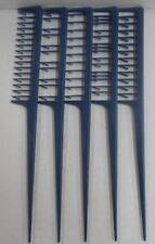 EASY WEAVER Professional WEAVING RATTAIL COMBS (Blue) ~LOT OF 5 Different Styles