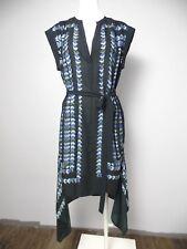 BCBG MAXazria Womens Small Black Printed Rayanne Uneven Hem Sheath Dress R