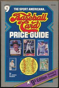 The Sport Americana Baseball Card Price Guide Number 9 Beckett