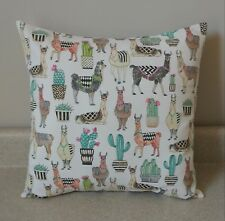 1 lovely Llama cactus floral pillow cover sham 16 x 16 nursery baby animals