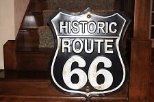 "Huge 26"" x 30"" Embossed Historic ROUTE 66 Road  Highway Garage Mobil Texaco"