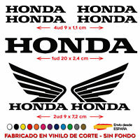 KIT 7X PEGATINA HONDA ALAS MOTO RACING VINILO STICKER BIKE COCHE MOTO BICI