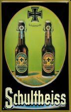 Schultheiss Bier Beer Flaschen Blechschild Schild 3D geprägt Tin Sign 20 x 30 cm