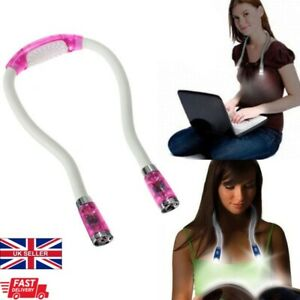 Hands-free LED Flexible Light Over Neck Book Reading Lamp Portable Huglight Pink